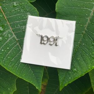 "NEW!! ☘️ Birth Year Necklace ""1991"""